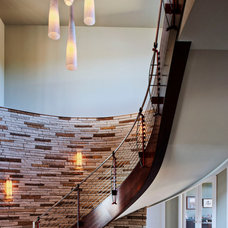 Contemporary Staircase by Pillar Custom Homes, Inc.