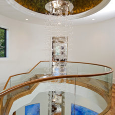 Mediterranean Staircase by Charles Clayton Construction Inc