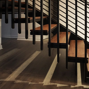 Contemporary Metal Staircase - Stevens Residence