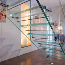 Contemporary Staircase by Hill Mitchell Berry Architects