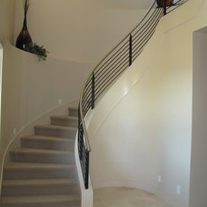 Contemporary Staircase by JD Stairs Inc