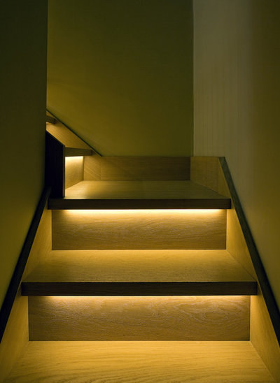 Contemporary Staircase by Brilliant Lighting
