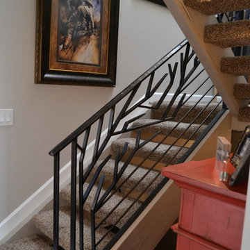 Contemporary Organic Stair Railing