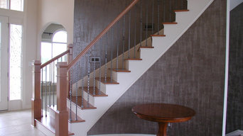 Contemporary railing created for the Reeve's  family by Steel Concepts.