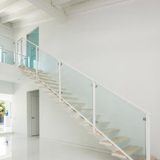 Contemporary Staircase by Architect Bruce Celenski, Inc.