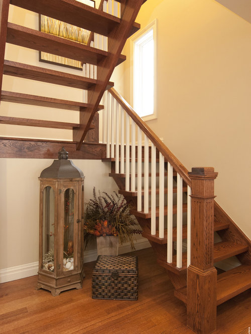 Open riser stair design ideas remodel pictures houzz for Open staircase designs