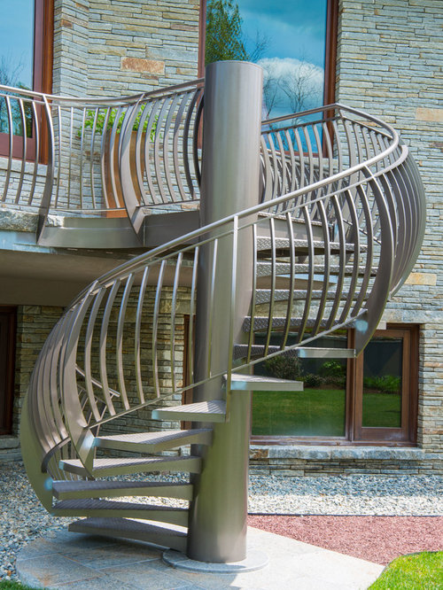 Inspiration For A Contemporary Metal Staircase Remodel In Other