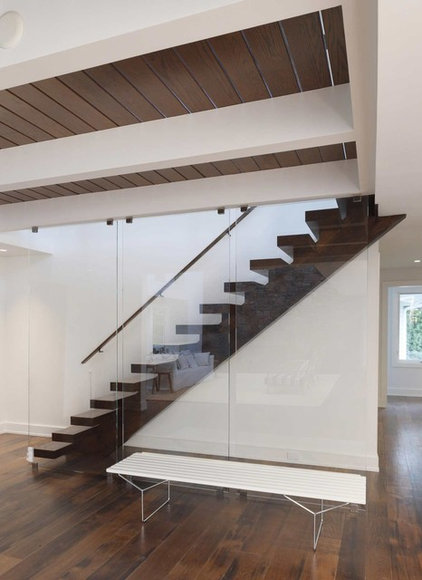 Contemporary Staircase by Charles J. Nafie Architects
