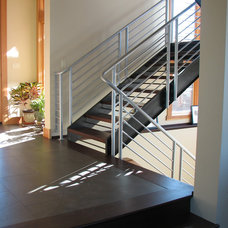 Contemporary Staircase by Christian Gladu Design