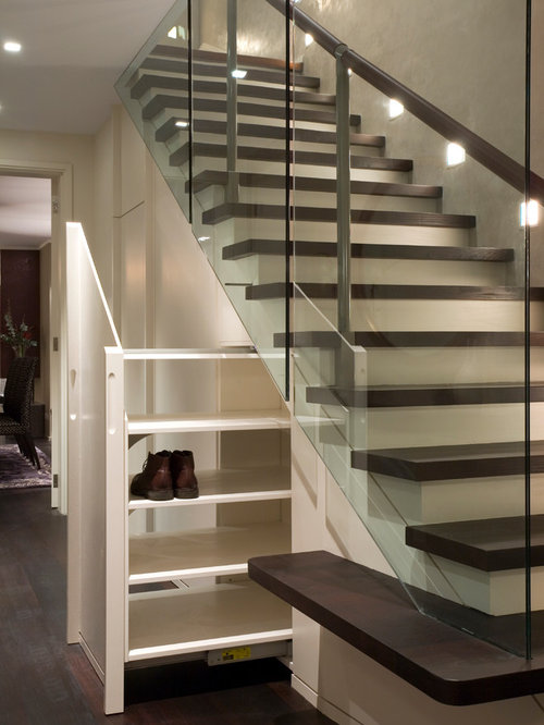 Delightful Staircase   Contemporary Wooden Straight Staircase Idea In London