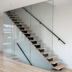 contemporary staircase by Hank K