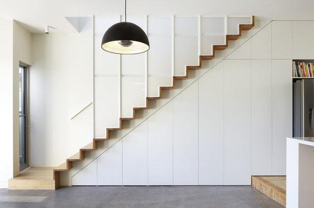 Contemporary Staircase by Delia Teschendorff Architecture
