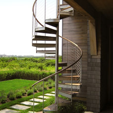 Contemporary Staircase by M Cohen and Sons