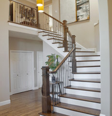 contemporary staircase by Jason Ball Interiors, LLC