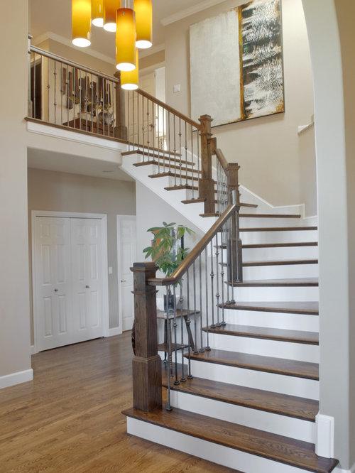 Modern Treppenhaus : Modernen Und Rustikal Treppenhaus_designe, Wohnzimmer  Design