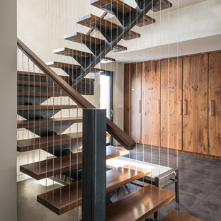 Wire Railing Interior | Vertical Cable Rail Houzz