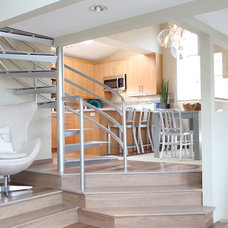 Contemporary Staircase by Shryne Design