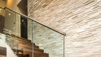 Contemporary Tempered Glass Railings