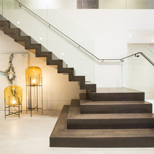 Inspiration for a contemporary l-shaped staircase remodel in Miami