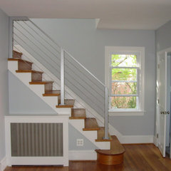eclectic staircase by Cook Bros Design Build Remodeling