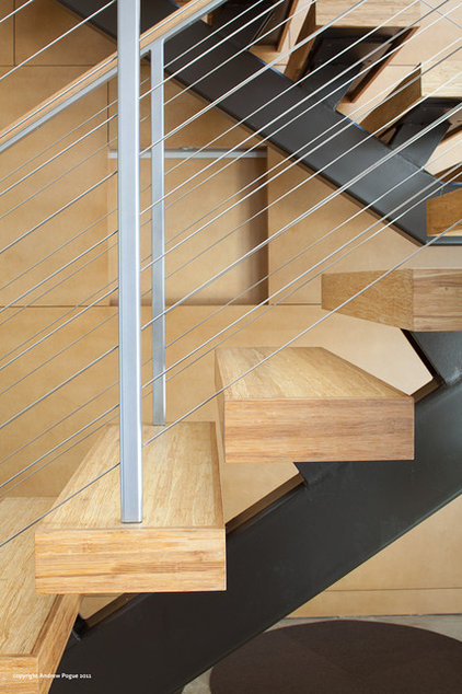 Contemporary Staircase by CG&S Design-Build