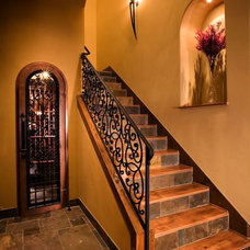 Mediterranean Staircase by Eppright Custom Homes