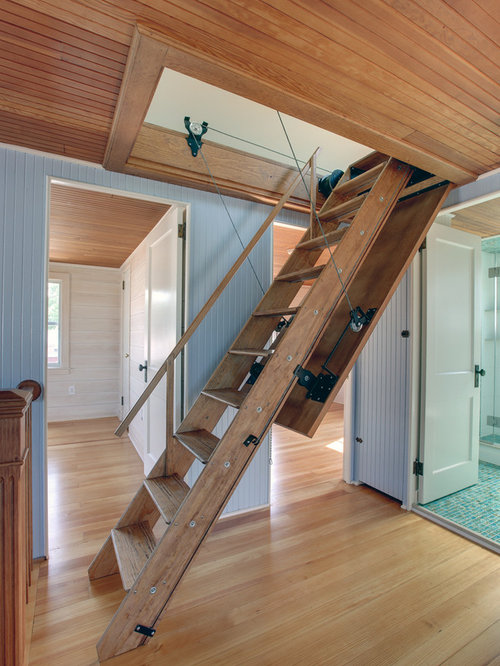Amazing Inspiration For A Small Eclectic Wooden Straight Staircase Remodel In New  York
