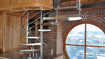 Cotton Mill Clock Tower Stainless Spiral and Railings