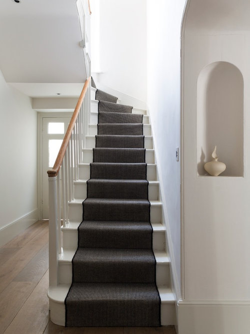 Ornate Painted L Shaped Staircase Photo In Oxfordshire