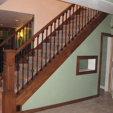 Traditional Staircase by Monique Jacqueline Design