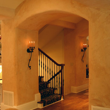 Country French Estate: Hall to Stairwell