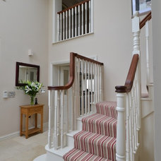 Traditional Staircase by Tricia Carroll Designs