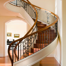 Traditional Staircase by Pocci Design Group