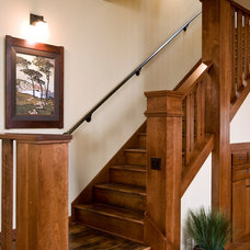 Traditional Staircase by Homeland Design, llc