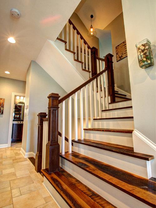 Craftsman Columbus Staircase Design Ideas Remodels Photos