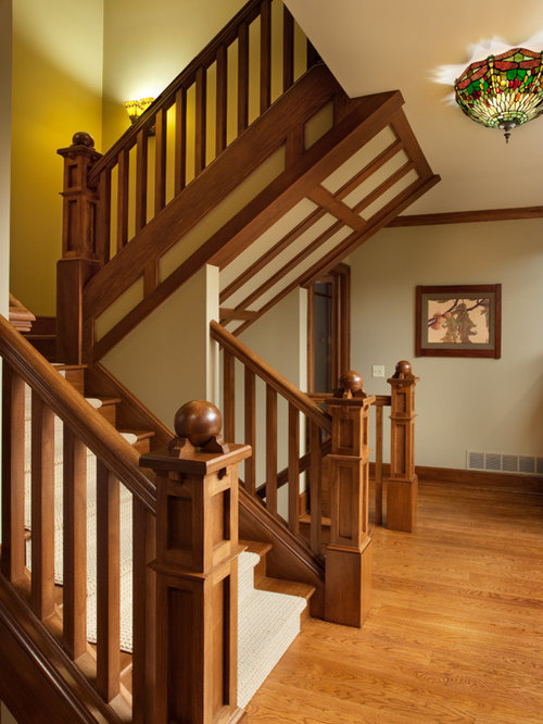 Craftsman Newel Post Home Design Ideas Pictures Remodel