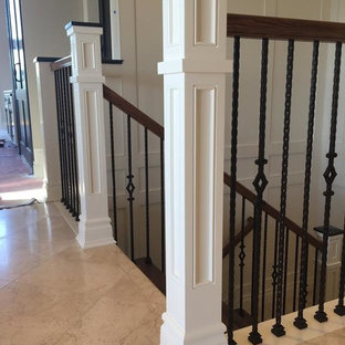 Example of an arts and crafts staircase design in San Francisco