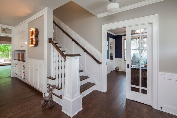 Traditional Staircase by CG&S Design-Build