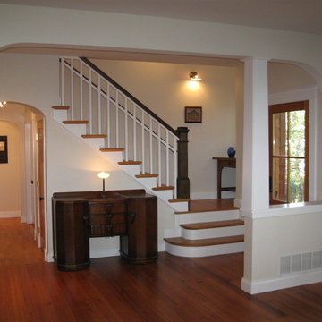 Craftsman Stairs and Front Entry