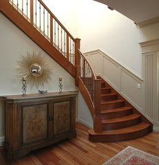 traditional staircase by Mark Brand Architecture