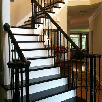 Creative idea- Painted stair treds by Fox Brothers Painting