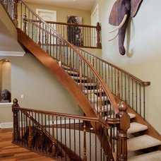 Traditional Staircase by Maillot Homes