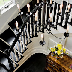 traditional staircase by Crisp Architects