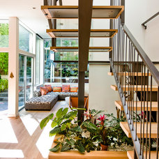 Contemporary Staircase by Marla Schrank Interiors