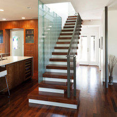 Contemporary Staircase by McKinney York Architects