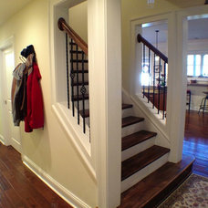 Traditional Staircase by The Southern Basement Company