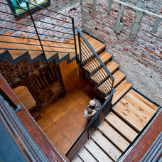 Eclectic Staircase by Metcalfe Architecture & Design
