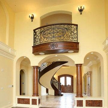 Curved Custom Stairs - South Barrington, IL