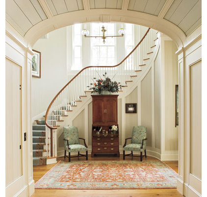 traditional staircase Curved Staircase