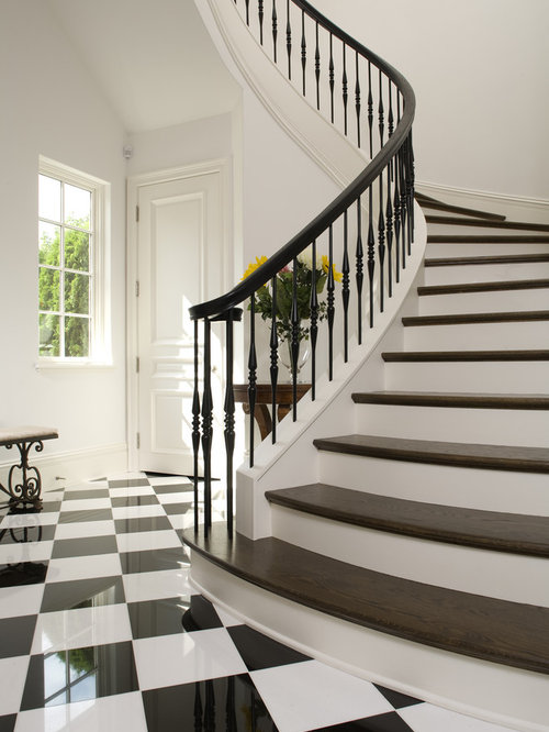 Inspiration For A Mediterranean Wooden Staircase Remodel In Minneapolis